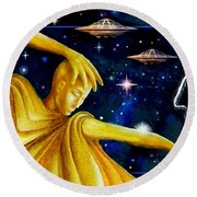 Galactic  Business Round Beach Towel