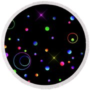 Round Beach Towel featuring the photograph Galaxy X by Mark Blauhoefer