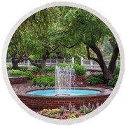 Round Beach Towel featuring the photograph Gardens At Prescott Park by Sharon Seaward