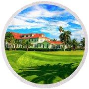 Gasparilla Inn, Boca Grande Fl Round Beach Towel