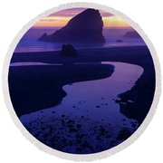 Round Beach Towel featuring the photograph Gem by Chad Dutson