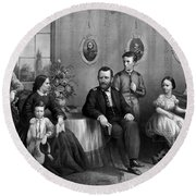 General Grant And His Family Round Beach Towel
