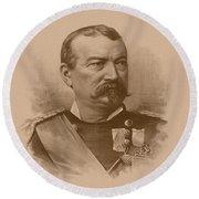 General Philip Sheridan Round Beach Towel