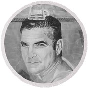 George Clooney Round Beach Towel by Jeepee Aero