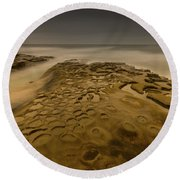 Ghost Photographer Round Beach Towel