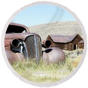 Round Beach Towel featuring the photograph Ghost Town Cruiser by Steve McKinzie