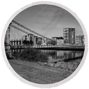 Round Beach Towel featuring the photograph Glasgow by Jeremy Lavender Photography