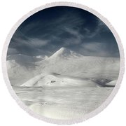 Glencoe Winter Landscape Round Beach Towel