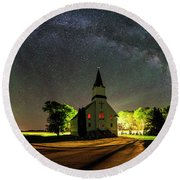 Round Beach Towel featuring the photograph Glorious Night by Aaron J Groen
