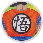 Goku Kanji Round Beach Towel
