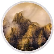 Round Beach Towel featuring the photograph Golden Glow by Ronald Santini