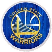 Golden State Warriors Door Round Beach Towel