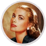 Grace Kelly, Actress And Princess Round Beach Towel