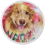 Gracie Round Beach Towel