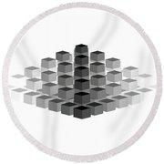 Gradient Pyramid Round Beach Towel