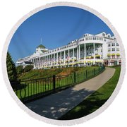 Grand Hotel Mackinac Island Round Beach Towel
