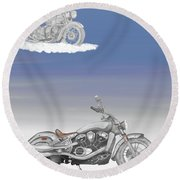 Grandson Round Beach Towel