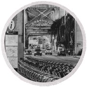 Round Beach Towel featuring the photograph Granville Island by Ross G Strachan