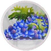 Grapes Round Beach Towel by Chrisann Ellis