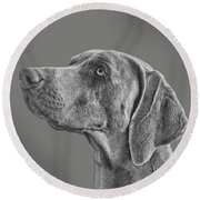 Gray Ghost Round Beach Towel
