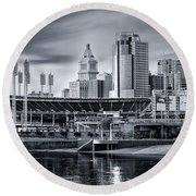 Great American Ball Park Round Beach Towel