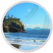 Great View Round Beach Towel by Robert Bales