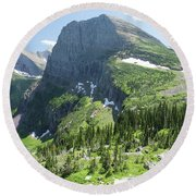 Grinnell Glacier Trail - Glacier National Park Round Beach Towel
