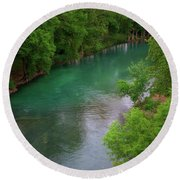 Guadeloupe River Round Beach Towel