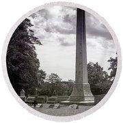 Gwaltney Cemetery  Round Beach Towel by Melissa Messick