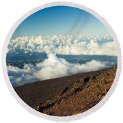 Haleakala Maui Hawaii Round Beach Towel