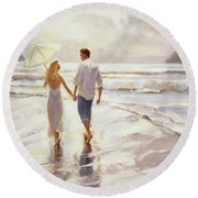 Hand In Hand Round Beach Towel