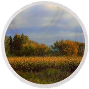 Harvest Round Beach Towel by Elfriede Fulda