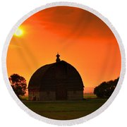 Harvest Sunset  Round Beach Towel