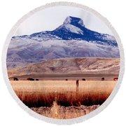 Heart Mountain - Cody,  Wyoming Round Beach Towel