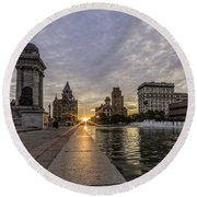 Heart Of The City Round Beach Towel by Everet Regal
