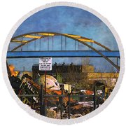 #1 Heavy Melt Steel Round Beach Towel