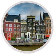 Herengracht 411. Amsterdam Round Beach Towel