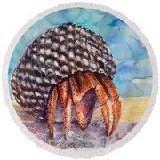 Hermit Crab 4 Round Beach Towel