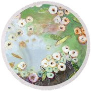 Hidden Lagoon Part I Round Beach Towel
