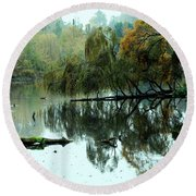 Hidden Lake Round Beach Towel