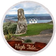 High Tide Round Beach Towel