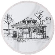 Hole In The Wall Books Round Beach Towel