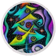 Holiday Season Round Beach Towel