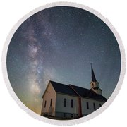Round Beach Towel featuring the photograph Holy  by Aaron J Groen