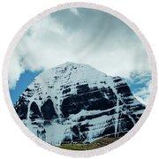 Holy Kailas North Slop Himalayas Tibet Artmif.lv Round Beach Towel