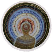 Round Beach Towel featuring the painting Holy Moly #10 by Kym Nicolas