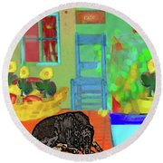 Home Sweet Home Painting 5 Round Beach Towel