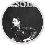 Hope Solo Round Beach Towel