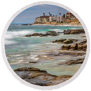 Horseshoe Beach Round Beach Towel