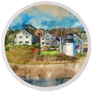 Hyannis Light Round Beach Towel by Jack Torcello